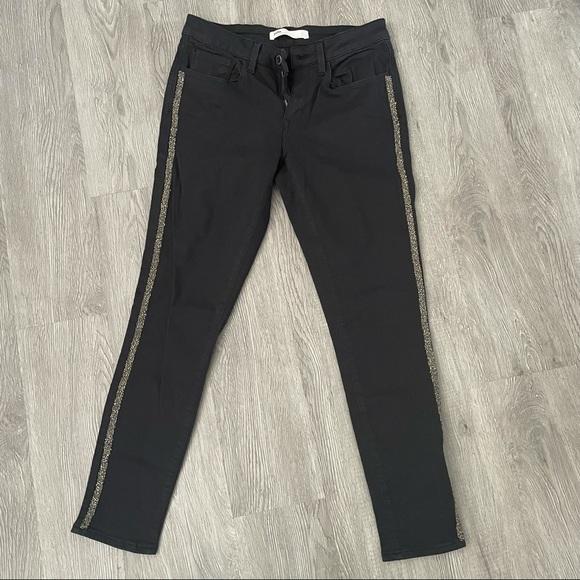 New Condition!!!! Zara Z1975 Jeans w/ crystals